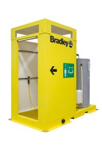 Bradley enclosed outdoor safety shower